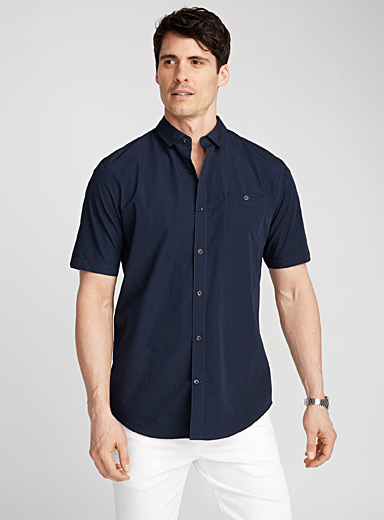 Solid minimalist shirt  Semi-tailored fit