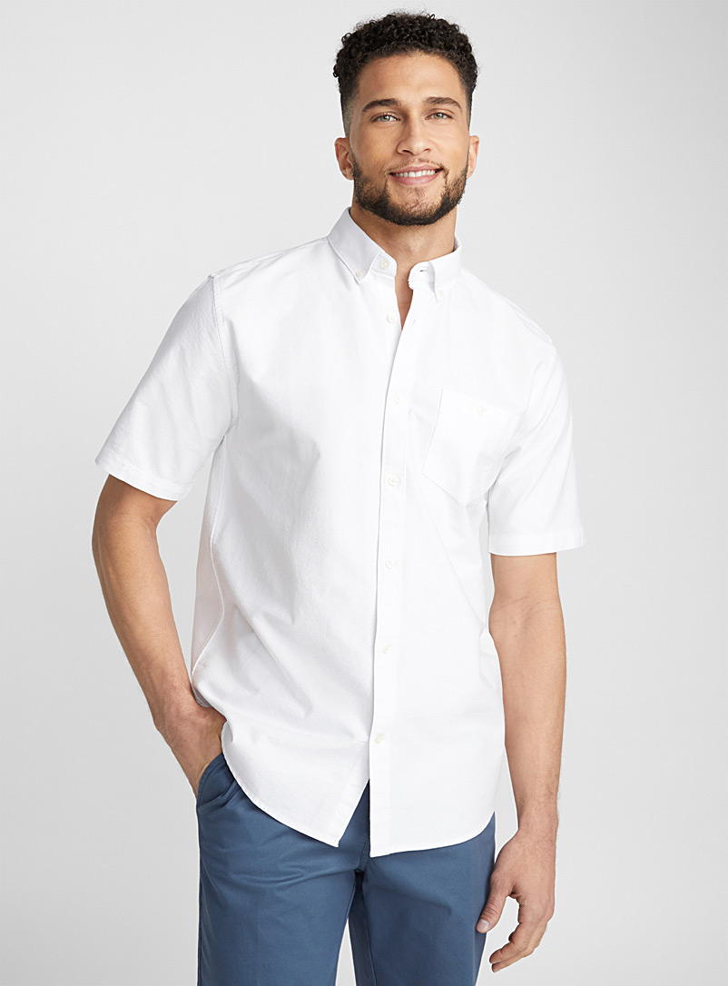 Blue oxford shirt  Modern fit - Solid - White