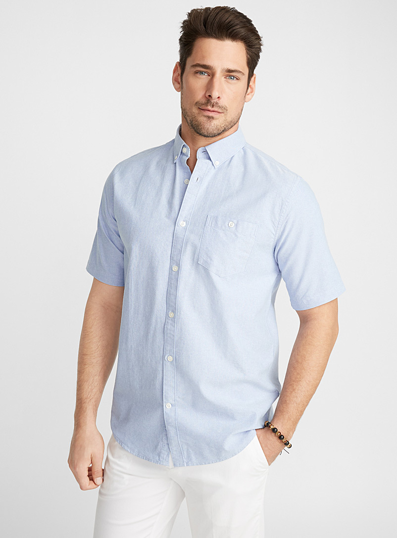 Blue oxford shirt  Modern fit - Solid - Baby Blue