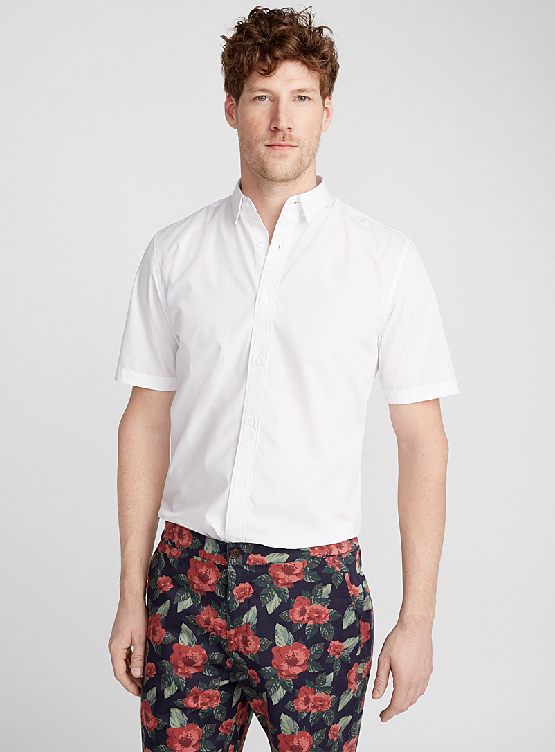 Easy-care minimalist shirt  Modern fit - Solid - White