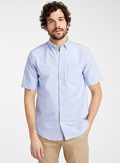 Short-sleeve organic cotton Oxford shirt  Modern fit
