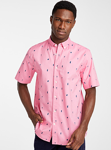 Patterned oxford shirt  Modern fit