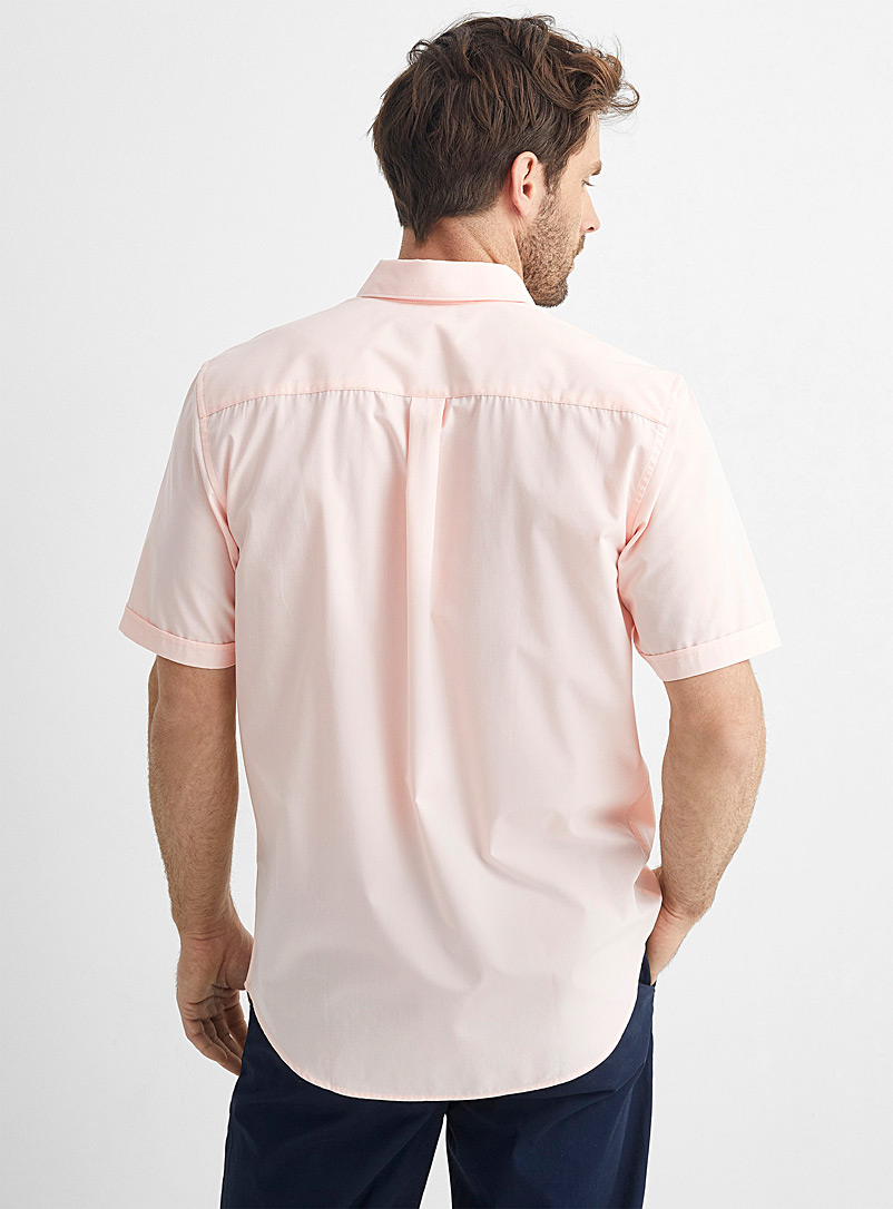 Le 31 Pink Easy-care solid shirt Modern fit for men