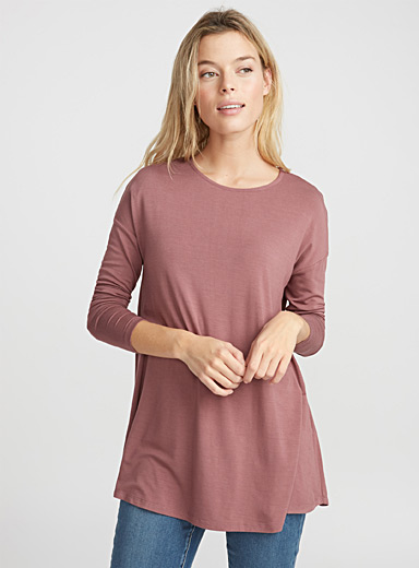 Fluid jersey flared tunic