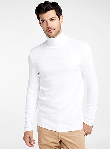 Pima cotton and modal turtleneck