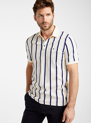 Liquid cotton patterned polo