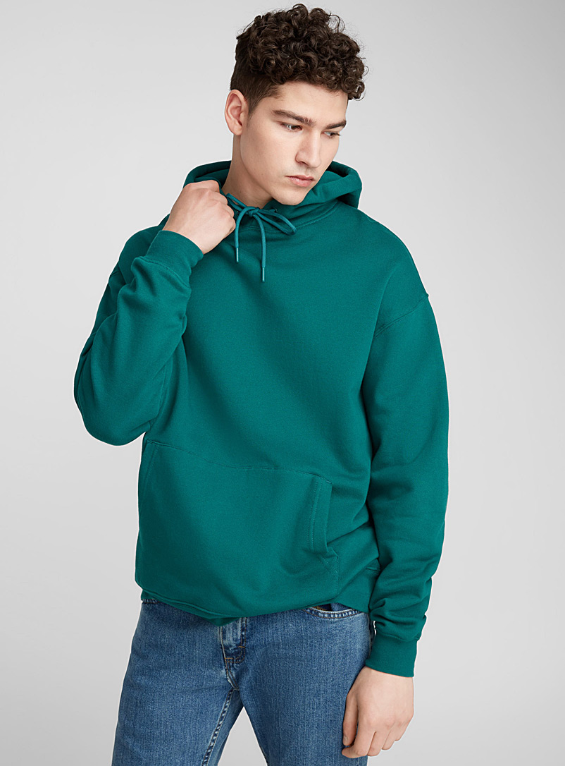 Boxy hoodie - Sweatshirts & Hoodies - Bottle Green