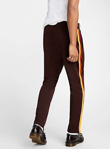 Two-tone trim track pant