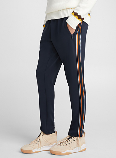 Piqué-stripe athletic pant