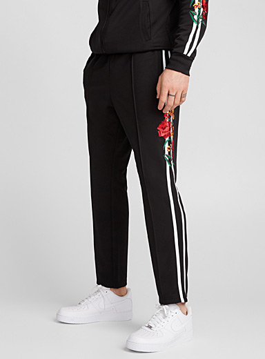Royal floral athletic joggers