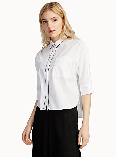 Loose cropped shirt