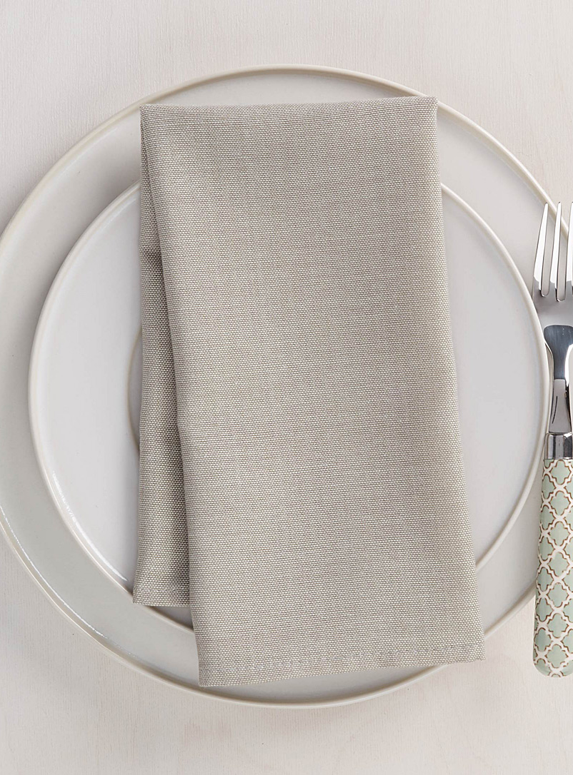 Solid chambray napkin - Fabric - Cream Beige