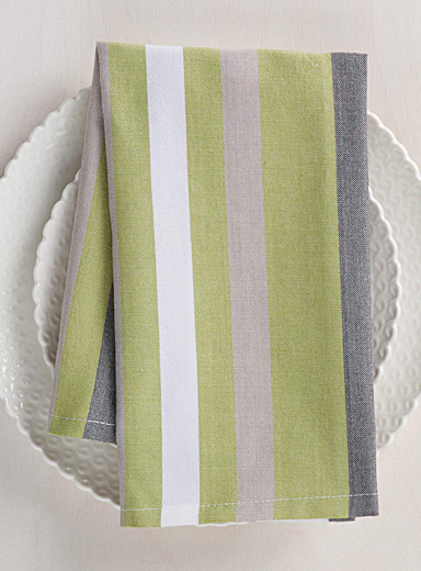 Chambray stripe napkin