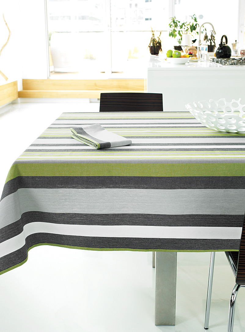 Simons Maison Assorted Chambray stripe tablecloth