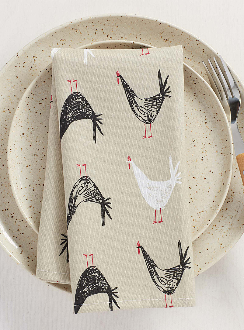 Hen sketches napkin