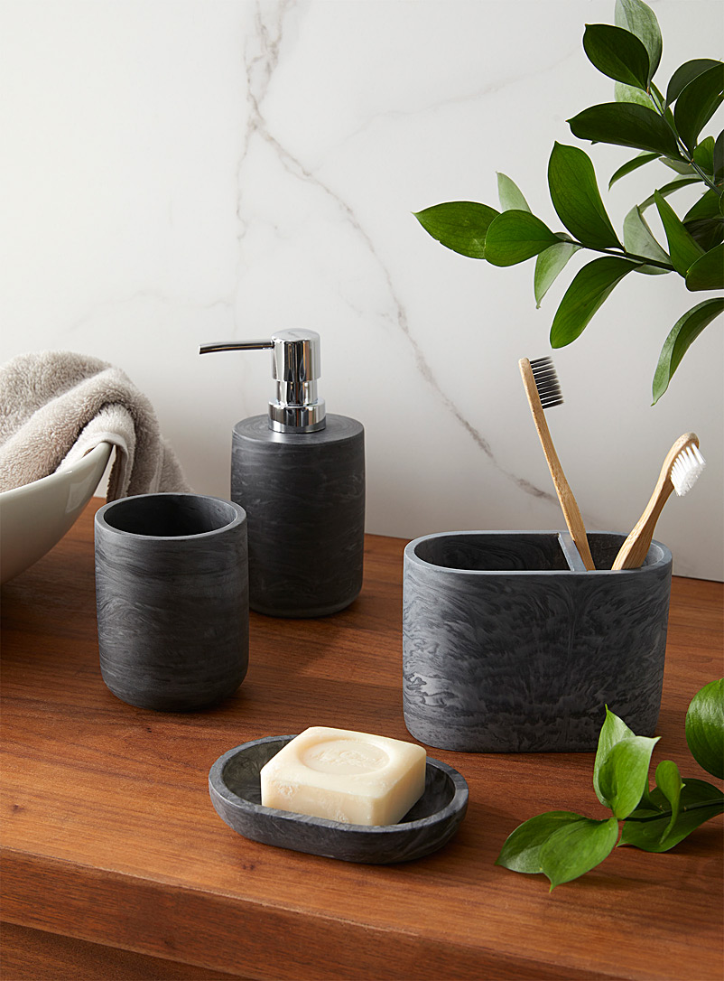 Simons Maison Charcoal Black faux-marble accessories