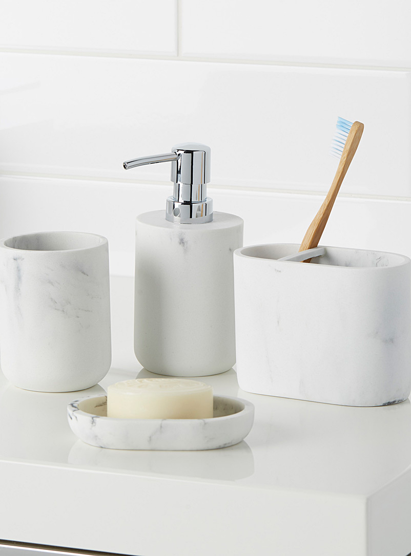 Faux-marble accessories - Accessories & Wastebaskets - Assorted
