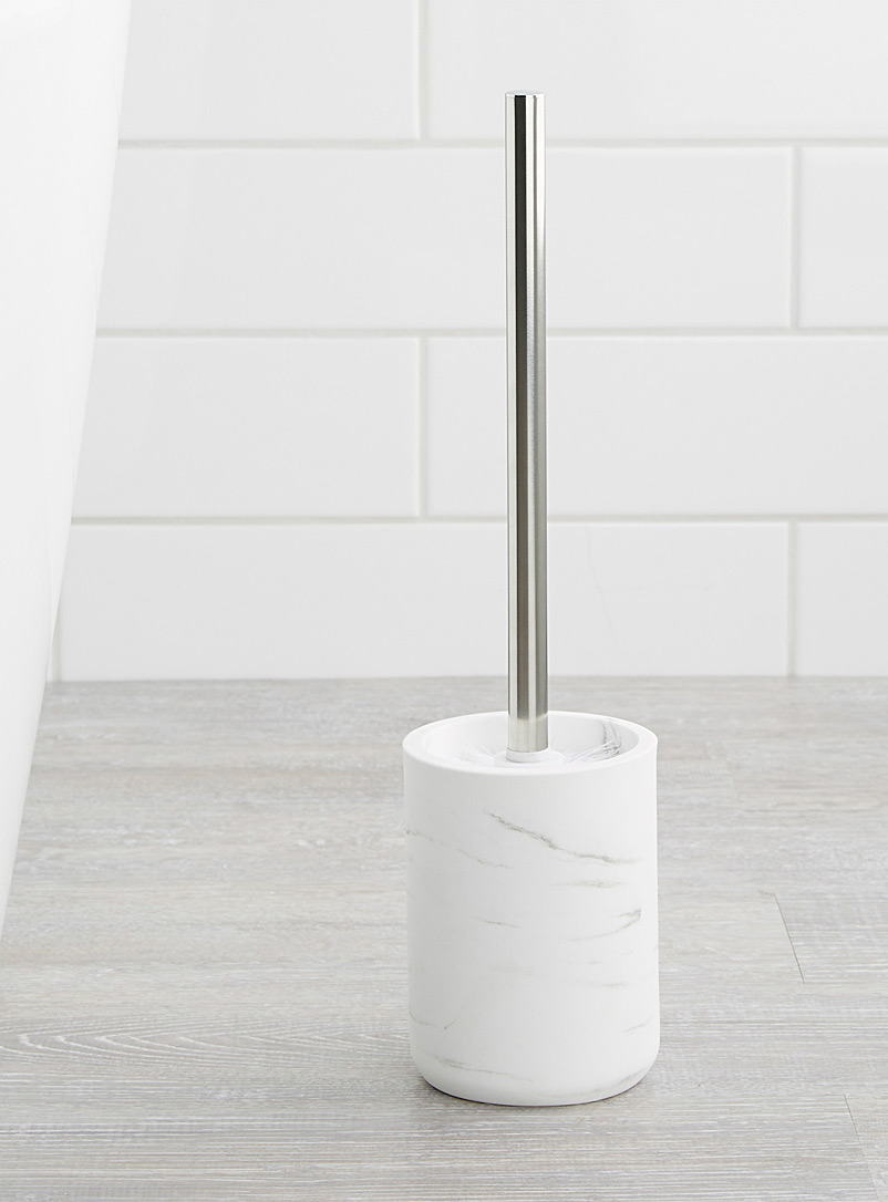 Faux-marble toilet brush