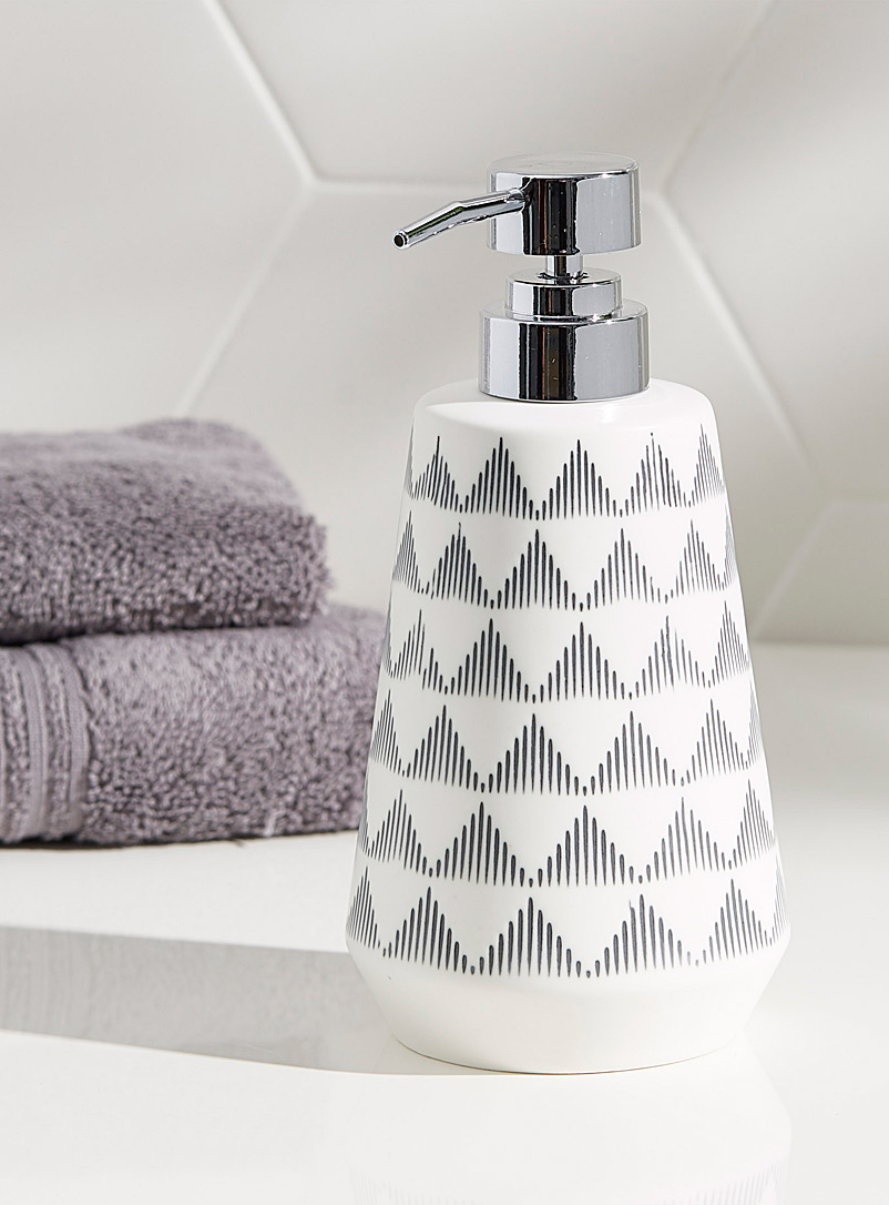 Peaks soap dispenser - Accessories & Wastebaskets - Black and White