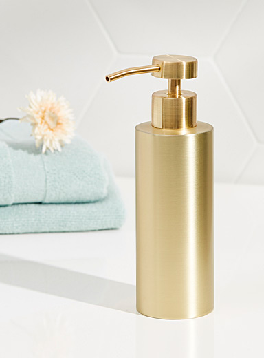 Satin gold soap dispenser