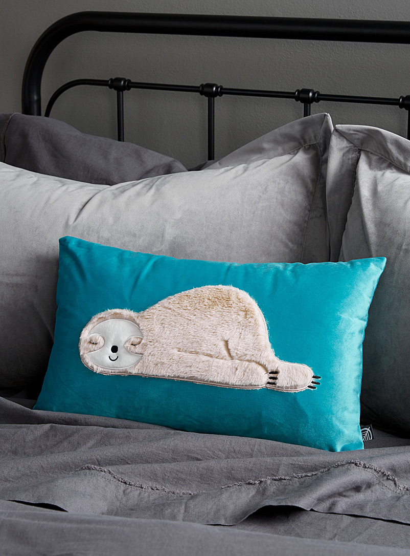 Sleepy sloth cushion  30 x 50 cm