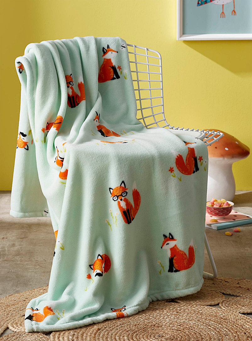 Simons Maison Assorted Baby fox throw  130 x 180?cm