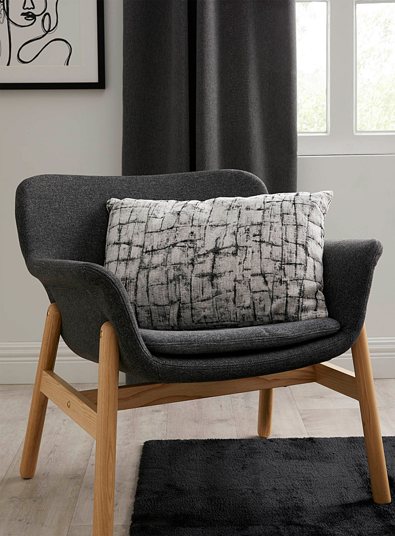 Simons Maison Black and White Birch bark cushion  40 x 60 cm