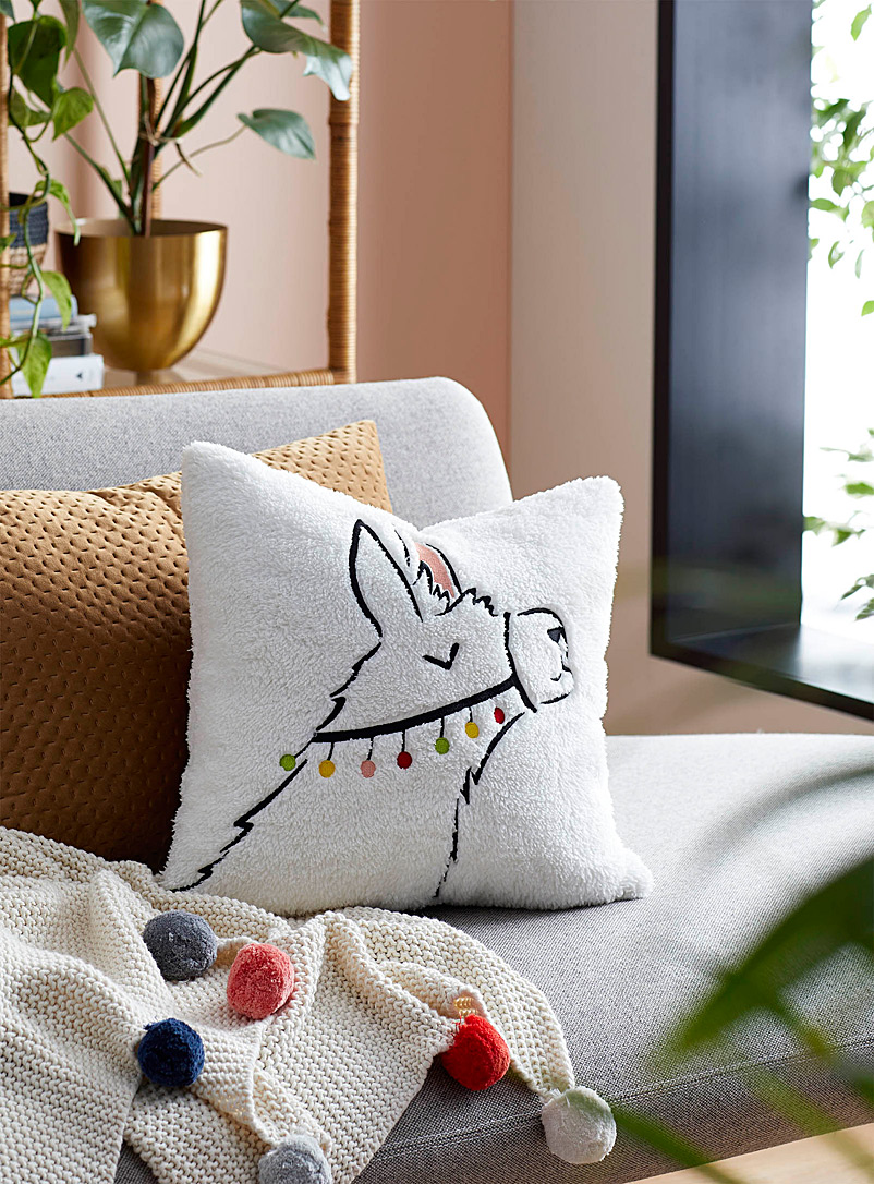 Simons Maison Assorted Serene llama cushion  40 x 40 cm