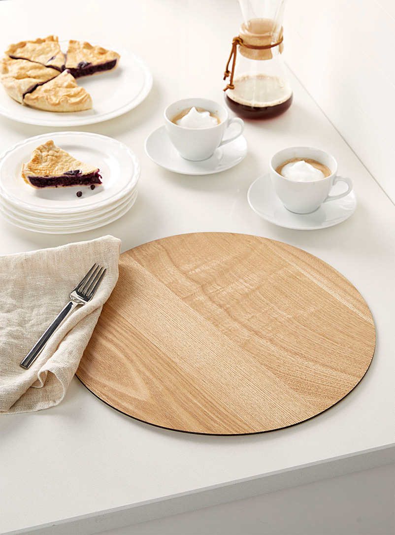 Round placemat - Hardback - Assorted