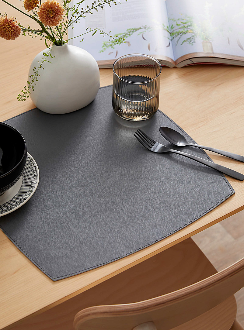 Pebbled faux-leather placemat