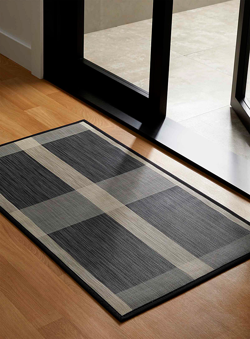 Geo block vinyl floor mat  70 x 115 cm - Patterned - Assorted