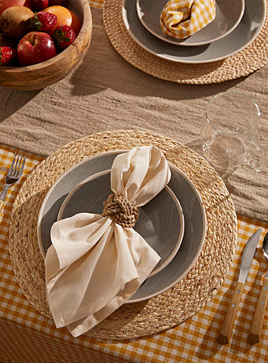 Simons Maison Cream Beige Natural straw placemat