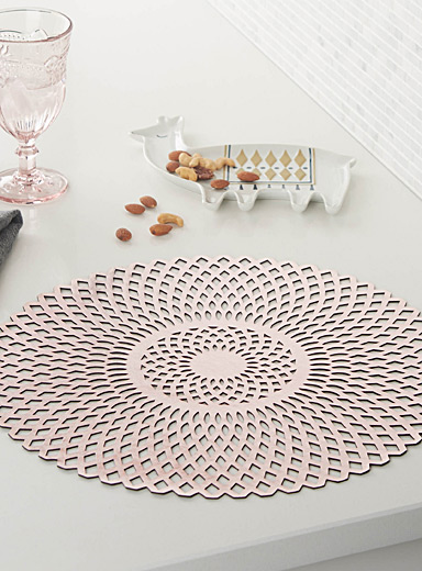 Rose gold vinyl placemat