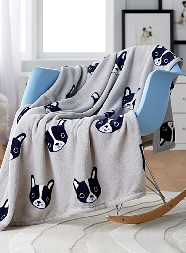 Adorable doggies kid's throw  110 x 140 cm