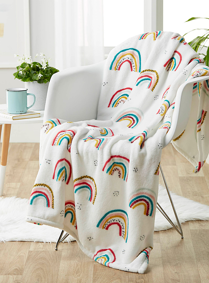 Simons Maison Assorted Rainbow kid's throw  110 x 140 cm