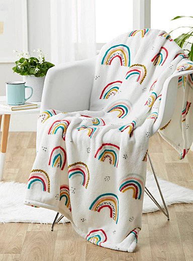 Rainbow kid's throw  110 x 140 cm