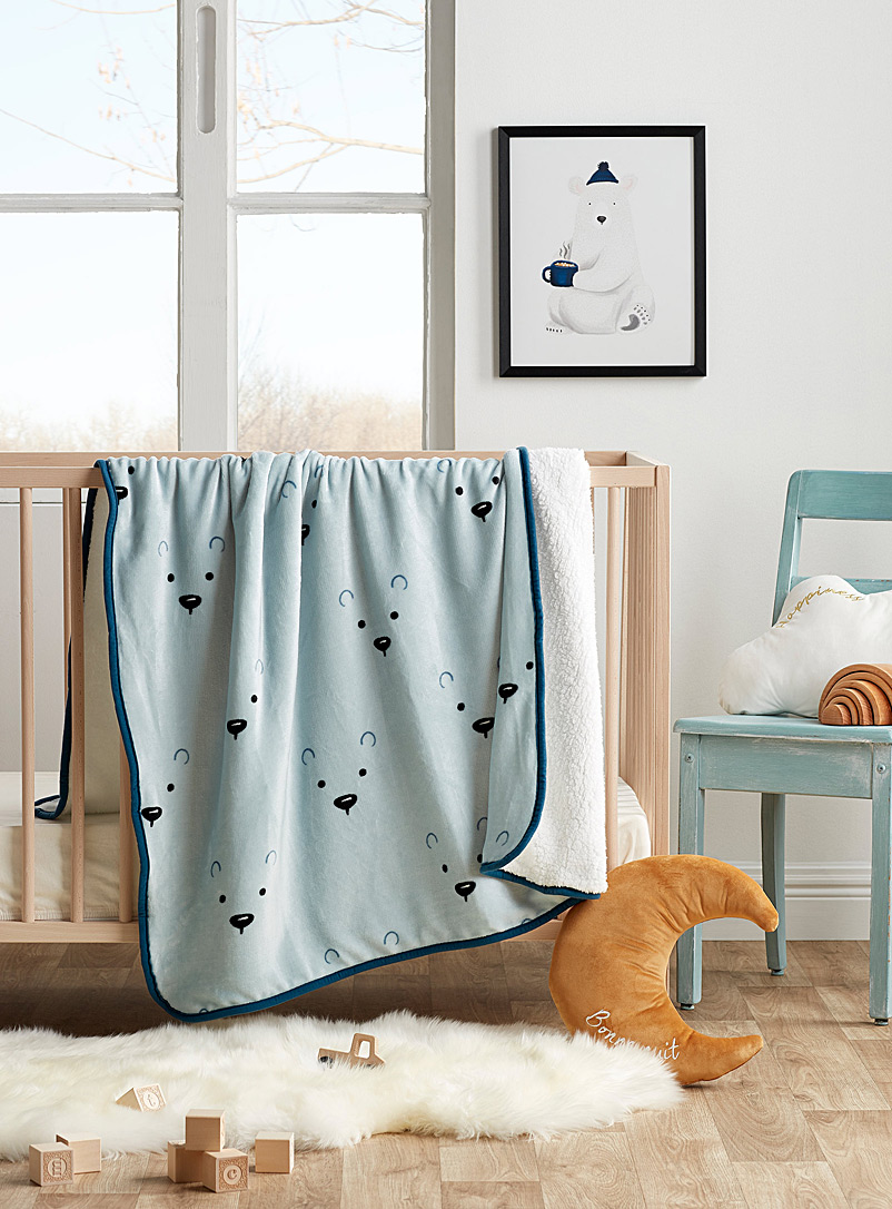 Simons Maison Assorted Subtle bear cozy throw  110 x 140 cm