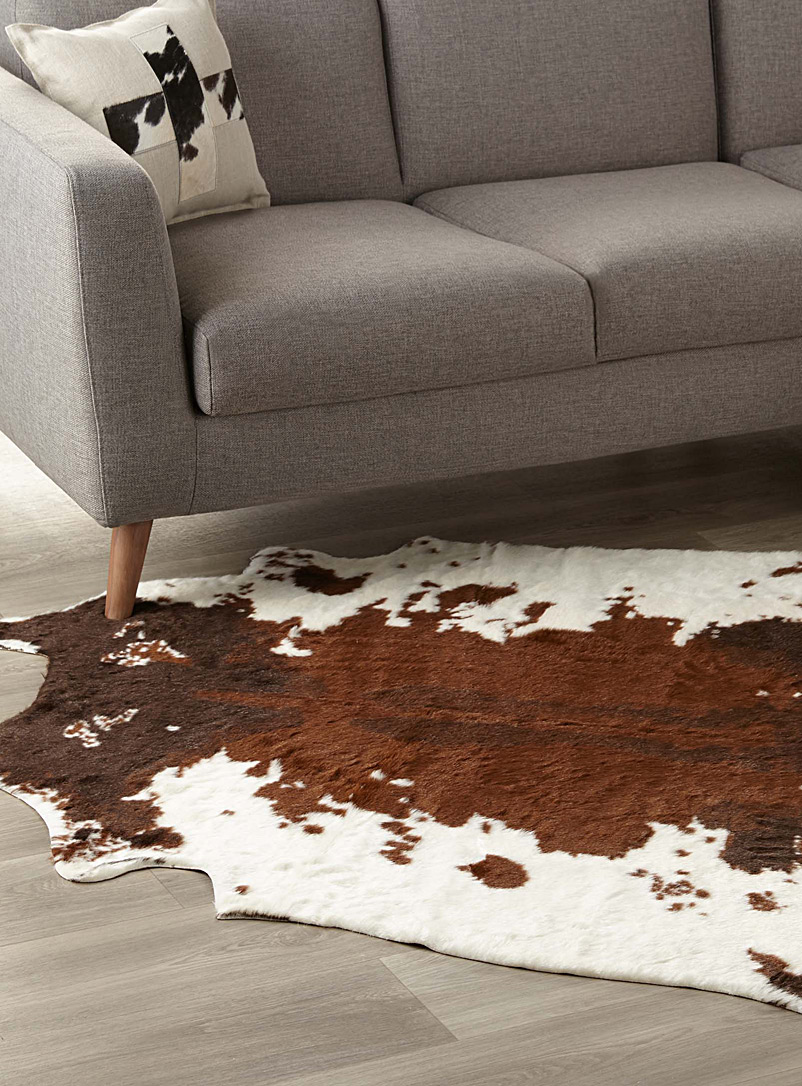 Faux-cowhide area rug  145 x 145 cm - Animal Skins - Assorted