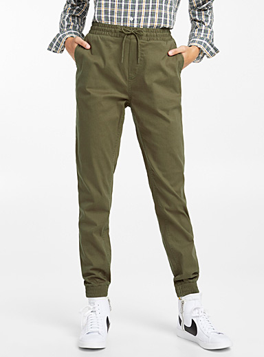 Cotton canvas joggers