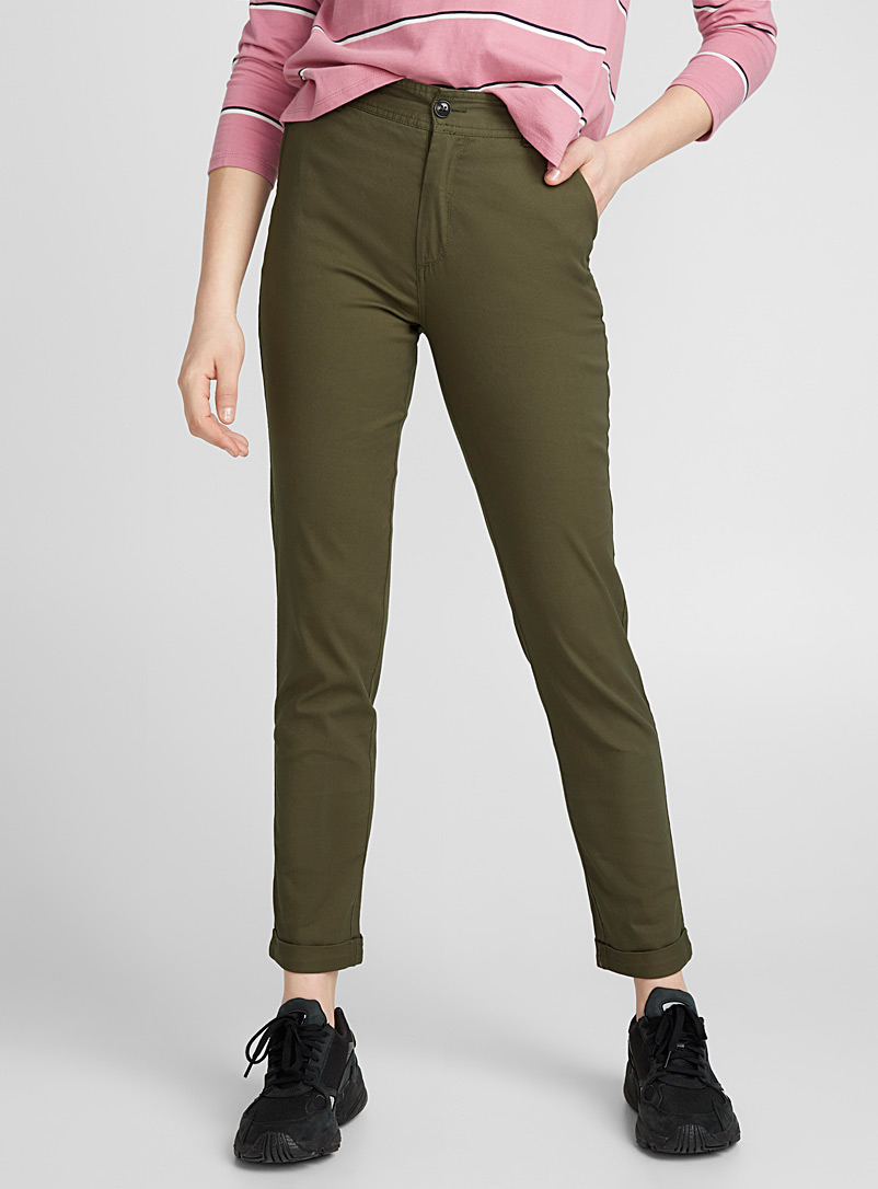 Twik Black Organic cotton utility chinos for women
