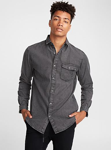 Hillcrest faded denim shirt