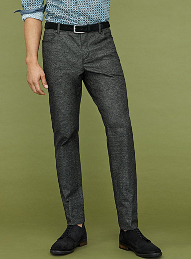 Le pantalon prince de Galles chiné <br>Coupe London - Droite étroite