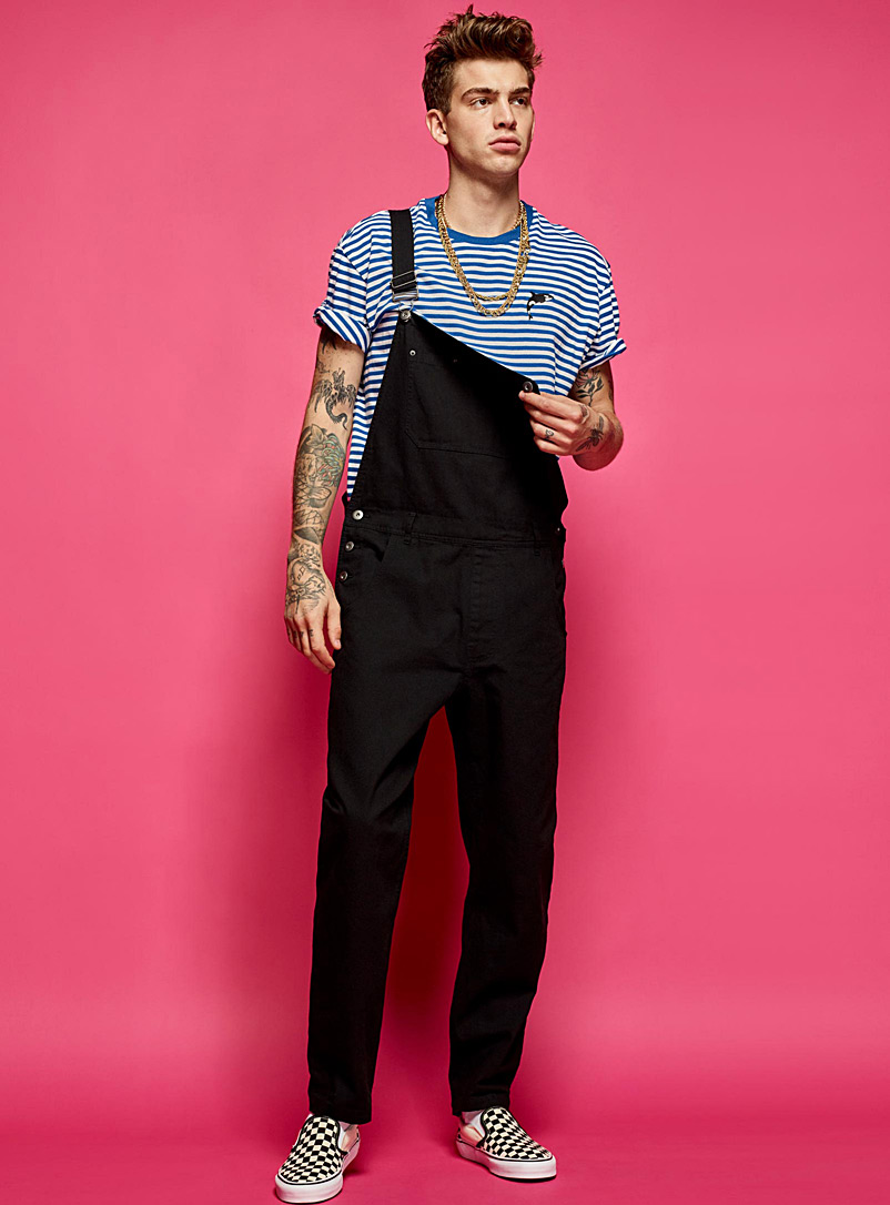 Essential organic cotton overalls - New Proportions - Black