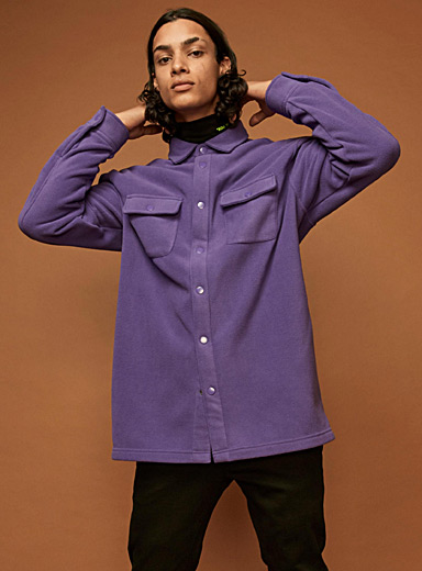 Polar fleece overshirt