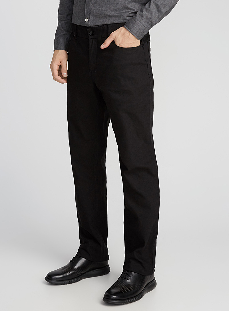 Piqué-textured pant  London fit - Slim straight - Straight slim fit