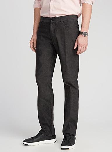 Piqué-textured pant  London fit - Slim straight