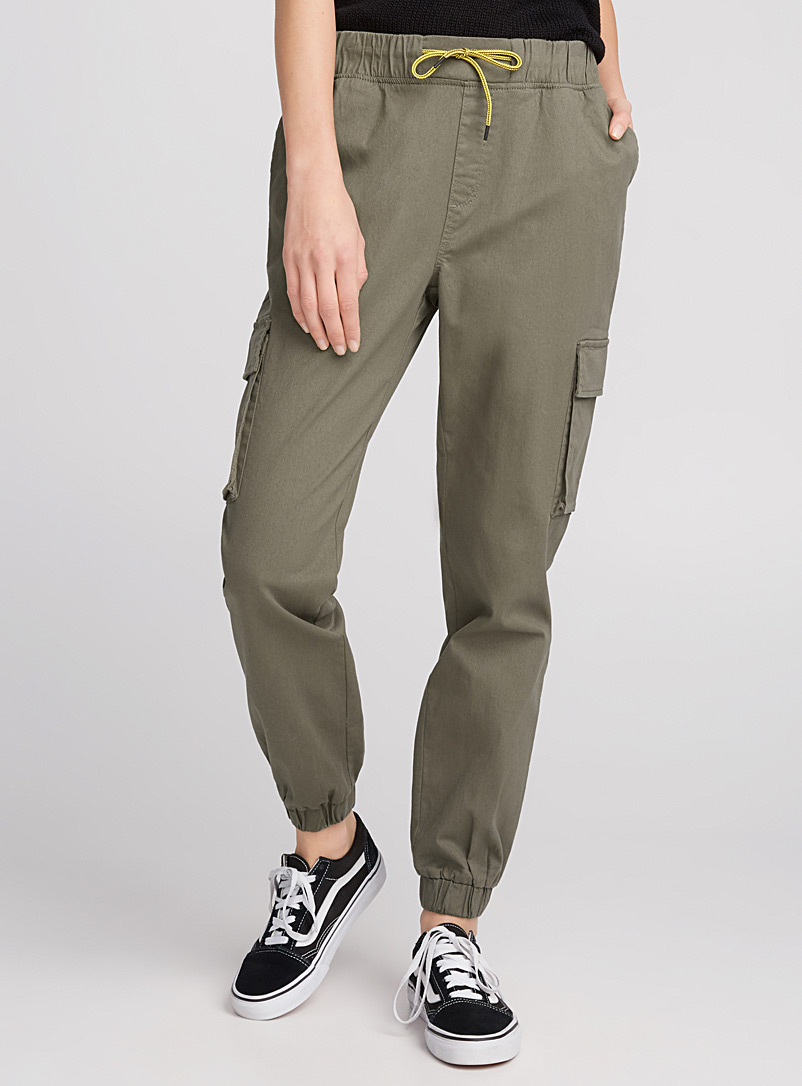 Military cargo joggers - Joggers - Mossy Green