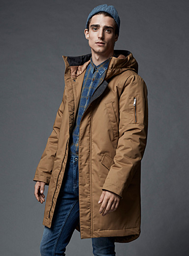Thinsulate long parka