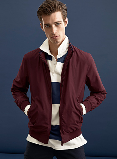 Le blouson nylon Harrington