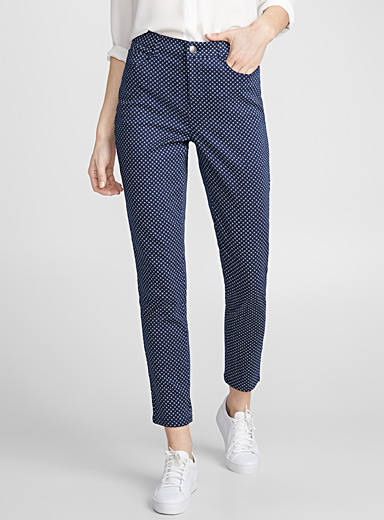 Micromosaic fitted pant